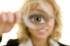 увеличивать стекла глаза Стоковая Фотография RF