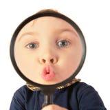 увеличитель поцелуя ребенка Стоковая Фотография