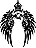 увенчанные крыла черепа Стоковая Фотография