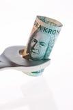 увенчивает шведские языки валюты Стоковая Фотография