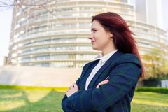 Уверенная женщина предпринимателя дела стоковое фото rf
