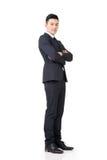 Уверенно азиатский бизнесмен стоковое изображение rf
