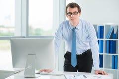 Уверенно бизнесмен стоковая фотография rf
