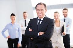 Уверенно бизнес лидер Стоковое Изображение RF