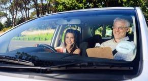 Уверенно водитель учащийся Стоковое Изображение RF