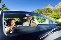 Уверенно водитель учащийся Стоковая Фотография RF