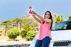 Водитель учащийся счастливый стоковое фото