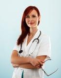 Уверенно женский доктор Стоковое Изображение RF