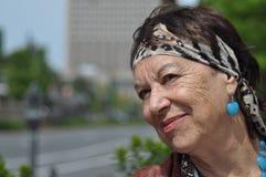 Уверенно женщина города Стоковые Фотографии RF