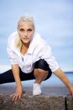 Уверенно женщина спортов стоковая фотография