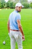 уверенно игрок в гольф стоковое изображение