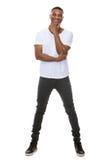 Уверенно молодой Афро-американский человек стоковая фотография rf