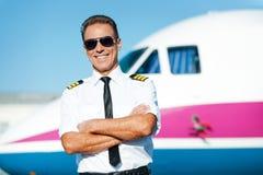 Уверенно пилот Стоковое Фото