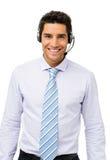 Уверенно представитель обслуживания клиента стоковые фото