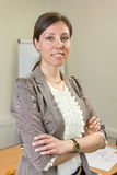 Уверенно руководитель женщины на офисе Стоковые Фотографии RF