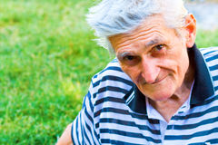 уверенно старший портрета человека одного Стоковые Изображения RF