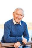 уверенно старший человека Стоковые Фотографии RF