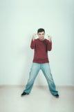 Уверенно человек провоцируя Стоковые Фотографии RF