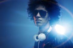 Уверенно DJ стоковые фотографии rf