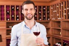 Уверенно winemaker стоковые изображения rf