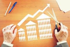 Увеличение в продажах домов Стоковая Фотография RF