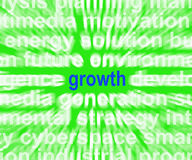 Увеличение и расширение прогресса выставок слова роста бесплатная иллюстрация