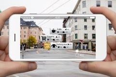 Увеличенная реальность в маркетинге стоковые изображения