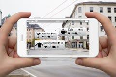 Увеличенная реальность в маркетинге стоковое изображение rf