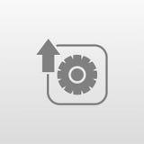 Увеличивать число оборотов при помощи зубчатой передачи плоский значок Стоковые Фотографии RF