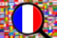 Увеличивая флаг Франция Стоковые Изображения RF