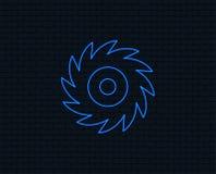 Увидел круговой значок знака колеса Лезвие вырезывания Стоковые Изображения RF