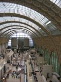 Увиденный высокорослое одной из части музея Orsay, железнодорожная бывший-станция, построенная в конце 800 paris Франция Стоковая Фотография RF