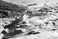 Увиденный от верхней части кальдеры Bromo держателя стоковое изображение rf