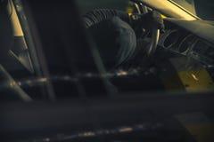 Увольняйте вверх украденный автомобиль стоковые изображения rf