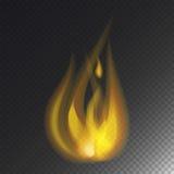 Увольняйте значка вектора ожога пламени опасность горячего теплая и варить лагерный костер желтого костра светлый пылая иллюстрация штока