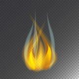 Увольняйте значка вектора ожога пламени опасность горячего теплая и варить лагерный костер желтого костра светлый пылая бесплатная иллюстрация