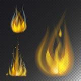 Увольняйте значка вектора ожога пламени опасность горячего теплая и варить лагерный костер желтого костра светлый пылая иллюстрация вектора
