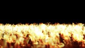 Увольняйте пламена, горение пола, отснятый видеоматериал запаса иллюстрация штока