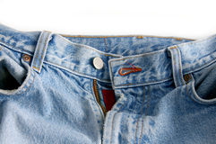 увяданные джинсыы Стоковое Фото