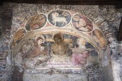 Увяданная фреска в улице около холма Capitoline в Риме Италии Стоковая Фотография