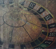 Увяданное везение! Реклама казино рулетки стоковые фотографии rf