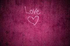 Увяданное Grafiti на треснутой стене цемента Стоковая Фотография RF