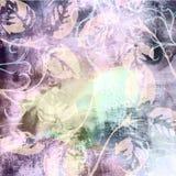 Увяданные полуночные фиолетовые обои Grunge ткани покрашенные Matt Стоковые Фото
