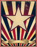 увяданный несенный шаблон плаката ретро Стоковое Изображение