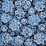 Увяданный цветочный узор ткани Стоковые Фотографии RF