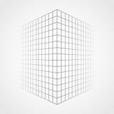 Увядая и исчезая решетка, предпосылка конспекта сетки 3d Стоковая Фотография