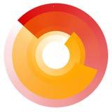 Увядая концентрические круги Геометрический круговой элемент с trans Стоковые Фотографии RF