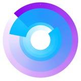 Увядая концентрические круги Геометрический круговой элемент с trans Стоковые Фото