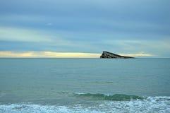 Увядая светлый вид на море стоковое изображение rf