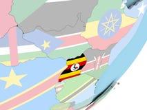 Уганда с флагом иллюстрация штока